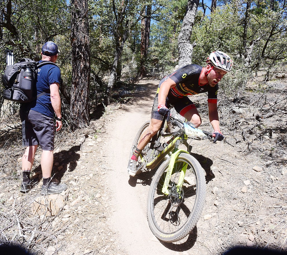 as the amateurs race the 30 and 50 mile courses of the Whiskey Off Road in Prescott Saturday, April 27.  (Les Stukenberg/Courier)