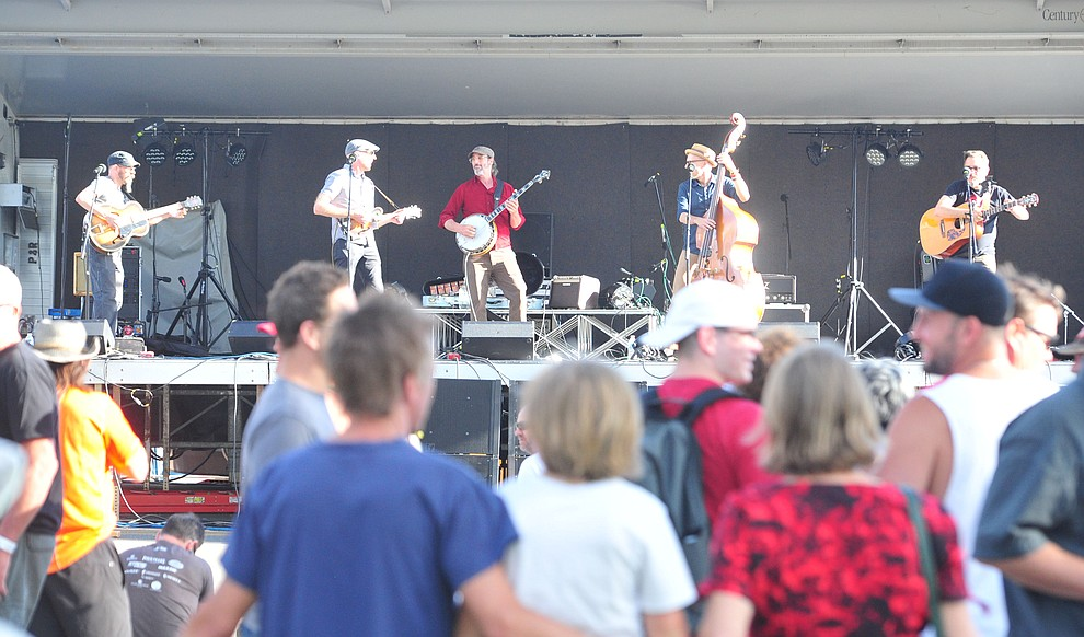 The Haymarket Squares perform at the Whiskey Off Road in Prescott Saturday, April 27.  (Les Stukenberg/Courier)