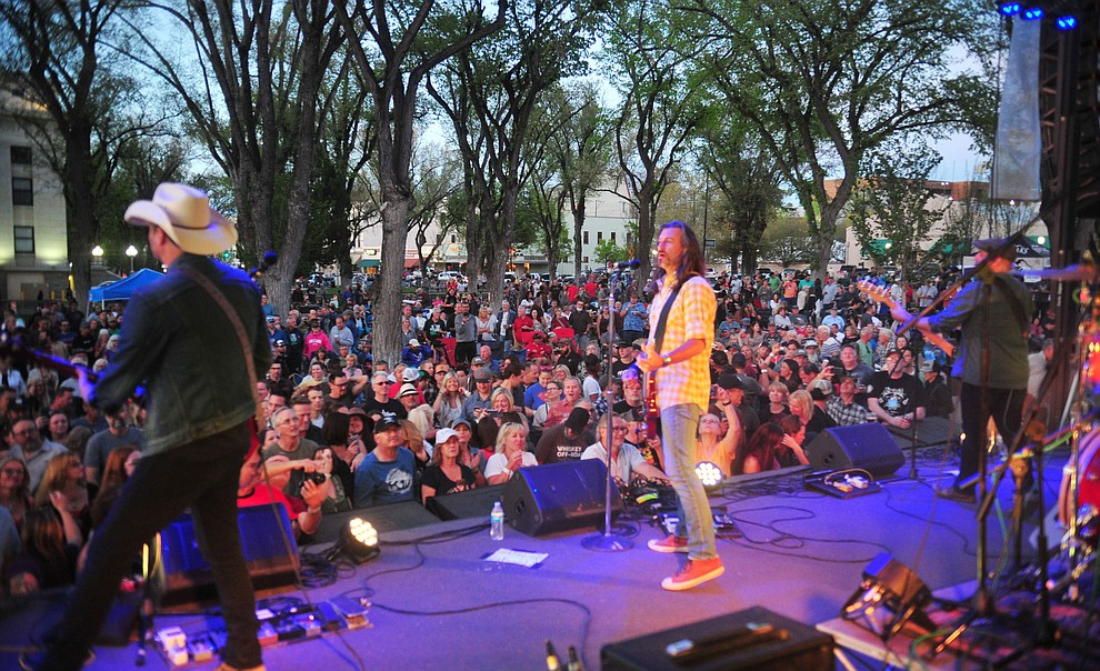 Roger Clyne and the Peacemakers perform at the Whiskey Off Road in Prescott Saturday, April 27.  (Les Stukenberg/Courier)