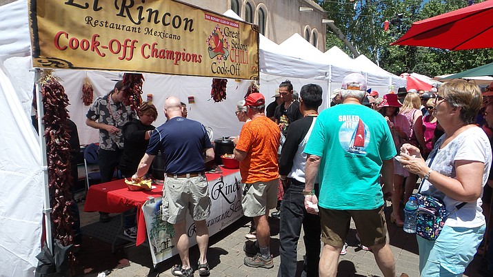The 9th annual Great Sedona Chili Cook-Off is held in conjunction with the cultural Tlaquepaque Arts and Shopping Village's Cinco de Mayo Fiesta weekend.