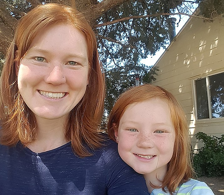 Winners of the 2018 Mother-Daughter Look-Alike Contest, Amanda Hermance, 28, and her daughter Ivy, 5. (Courtesy)