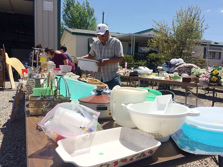 The rummage sale at Chino Valley Church of the Nazarene. (Jason Wheeler/Review)