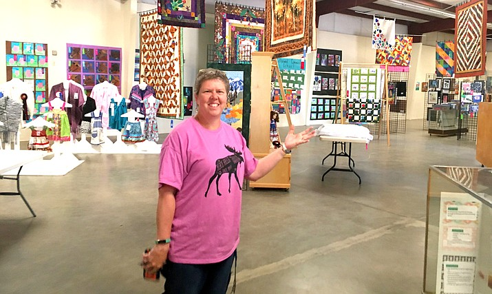 Coleen Gilboy, director of the Verde Valley Fair, shows off the local arts and crafts that will be displayed at this year's 2019 fair. VVN/Vyto Starinskas