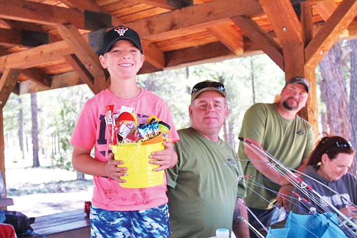 "Arizona Junior Hunters and Anglers Paul ""Silver Bullet"" Youth Memorial Fishing Derby winner is Wyatt Roberds. The Arizona Junior Hunters and Anglers Club meets once a month in Williams. (Photo/Arizona Junior Hunters and Anglers Club)"