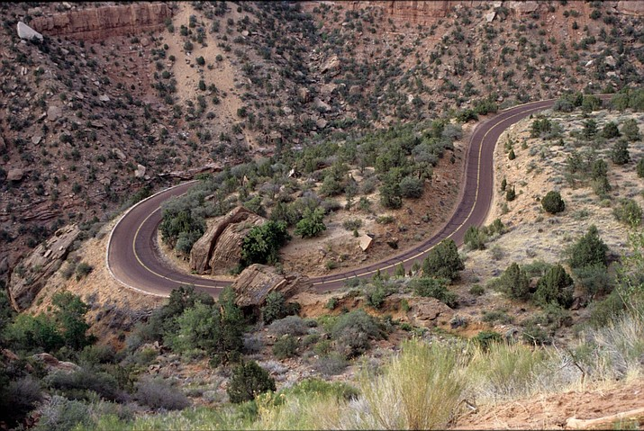 One of the main access roads to Zion National Park, the Zion-Mount Carmel Highway, has reopened after repairs. (Photo/NPS)