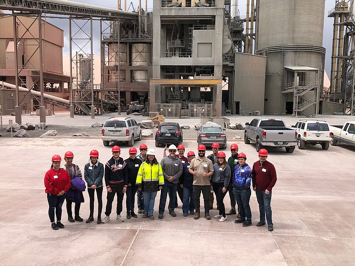 Students in the G.E.M. Environmental Field Experience program took a trip to the Drake Cement Mine in Paulden during the semester. (G.E.M. Environamental/Courtesy)