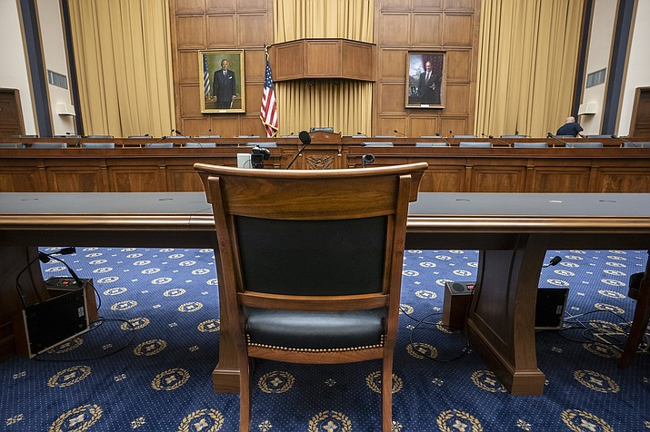 The House Judiciary Committee witness chair will be without its witness this morning, Attorney General William Barr, who informed the Democrat-controlled panel he will skip a scheduled hearing on special counsel Robert Mueller's report, escalating an already acrimonious battle between Democrats and the Justice Department, on Capitol Hill in Washington, Thursday, May 2, 2019. (J. Scott Applewhite/AP)