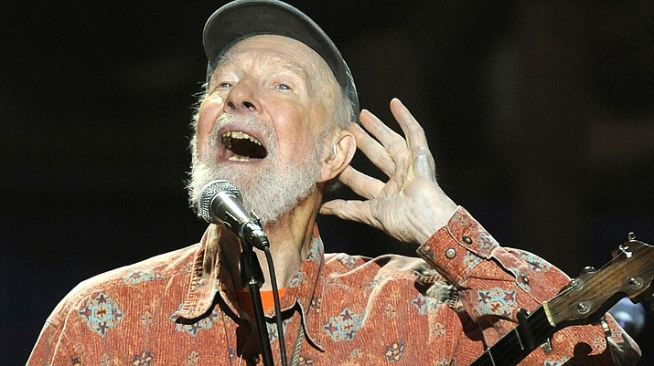 Folk Sessions is celebrating Pete Seeger's 100th birthday and his nearly 70 years as a performer at the Center for Spiritual Living Friday, May 3. (Tom Agostino/Courtesy)