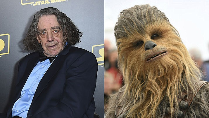 Peter Mayhew, who played the rugged, beloved and furry Wookiee Chewbacca in the Star Wars films, has died. Mayhew died at his home in north Texas on Tuesday, April 30, 2019, according to a family statement. He was 74. No cause was given. (AP, File)