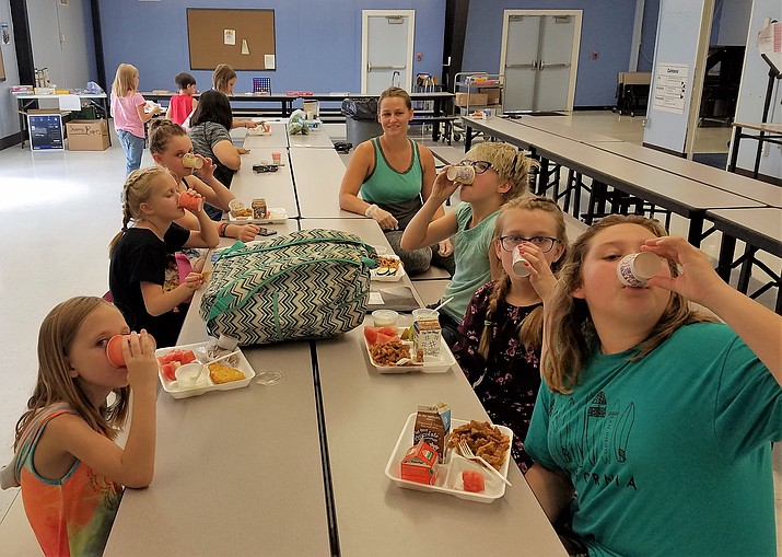 Children take part in the free summer food program this past year at Humboldt Elementary School, Humboldt Unified School District. (HUSD/Courtesy)