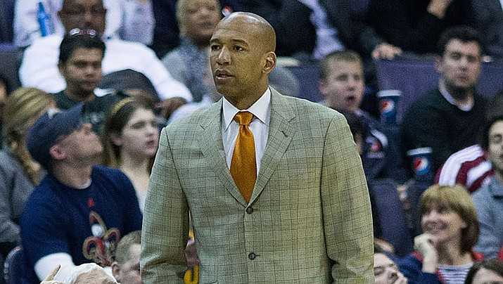 Philadelphia assistant coach Monty Williams will leave the 76ers to become Phoenix's fifth head coach in five seasons. (Photo by Keith Allison, CC by 2.0, https://bit.ly/2VQyES8)