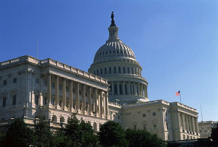 View of the U.S. Capitol Building from the Senate side of the campus. (U.S. House of Representatives photo via Flickr)