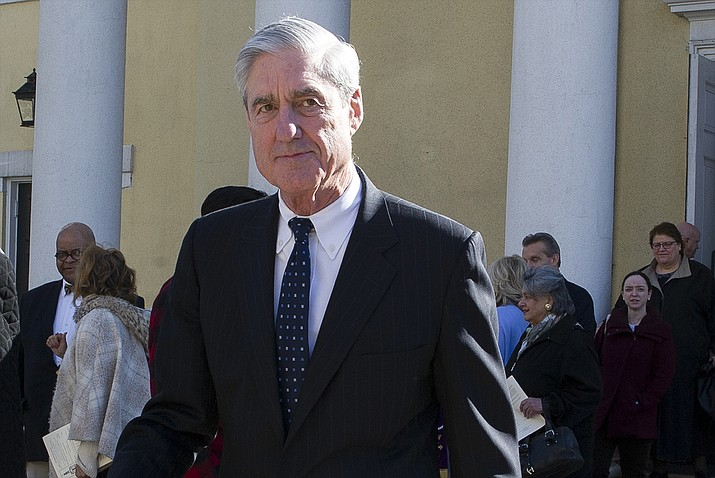 In this March 24, 2019, file photo, special counsel Robert Mueller departs St. John's Episcopal Church, across from the White House in Washington. (Cliff Owen/AP, file)