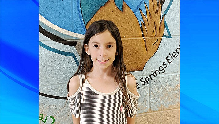 Alyssa Tilley from Coyote Spring Elementary is this week's HUSD Student of the Week. (Courtesy)