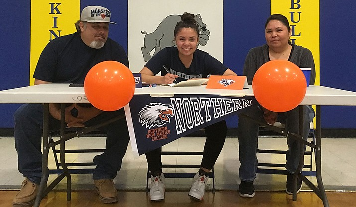 Kingman High School senior Sukwana Quasula will continue her basketball career at Northern New Mexico College in Española. (Photo by Beau Bearden/Daily Miner)