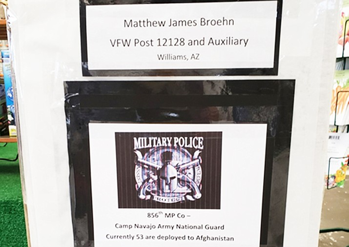 The Matthew James Broehm Auxiliary and VFW Post 12128 are seeking donations for an adopted National Guard unit. (Submitted photo)
