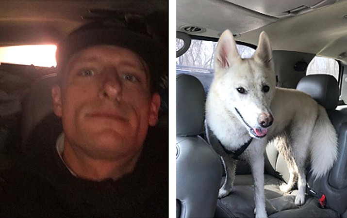 Timothy Coen was last seen with his dog, Harlow May 2 near Williams. (Photos/Coconino County Sheriff's Office)