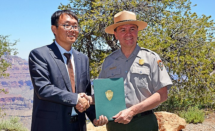 Grand Canyon National Park signed a sister park agreement with China's Yuntaishan World Geopark in 2007.  The agreement was renewed in 2017. (Photo/NPS)