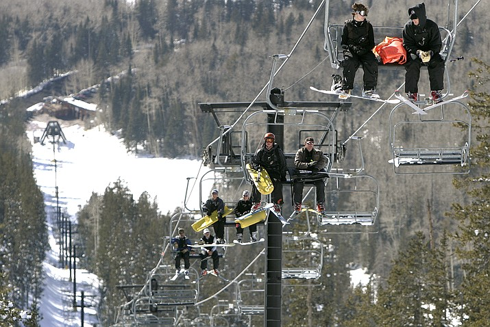 The Arizona Snowbowl in Flagstaff will remain open into mid-May, operating a record number of 160 hours this year. (AP Photo)