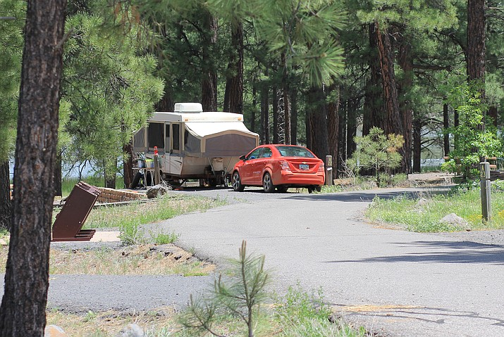 White Horse Lake Campground is one of three National Forest campgrounds near Williams. (Photo/WGCN)