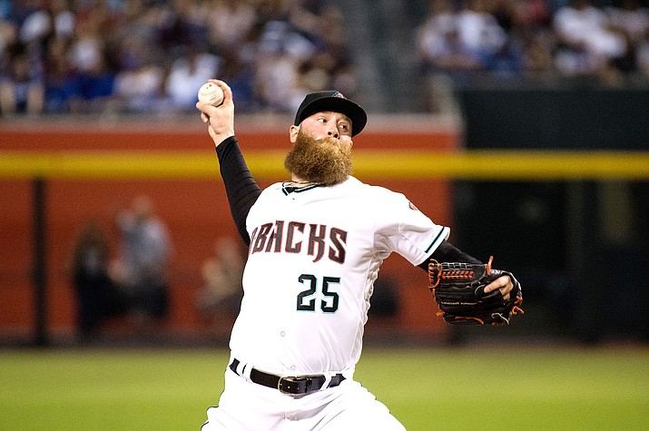 Archie Bradley picked up his second win of the year Wednesday as he pitched three scoreless innings in a 3-2 victory over the Rays. (File photo courtesy of Taylor Jackson/Arizona Diamondbacks)