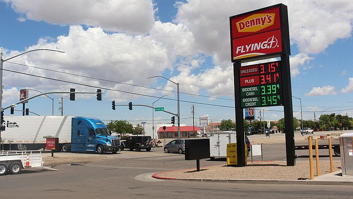 Gas prices continue to creep upward in Kingman, rising a few cents seemingly every day. (Photo by Agata Popeda/Daily Miner)