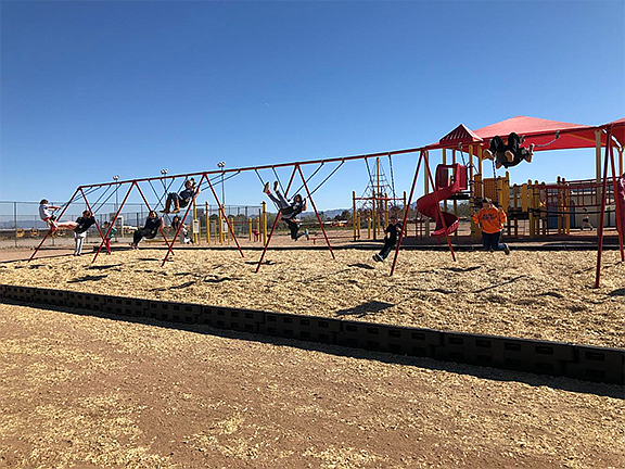 Manzanita Elementary School raised money for a new swing set last year and it was installed in March. (Photo courtesy of Manzanita Elementary School)