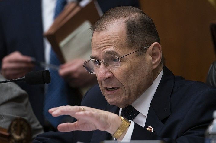 House Judiciary Committee Chair Jerrold Nadler, D-N.Y., moves ahead with a vote to hold Attorney General William Barr in contempt of Congress after last-minute negotiations stalled with the Justice Department over access to the full, unredacted version of special counsel Robert Mueller's report, on Capitol Hill in Washington, Wednesday, May 8, 2019. (J. Scott Applewhite/AP)