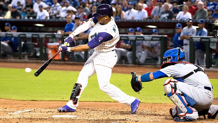 Ketel Marte connected on his second career walk-off Thursday night to give the D-backs a 3-2 victory over the Braves. (File photo courtesy of Sarah Sachs/Arizona Diamondbacks)