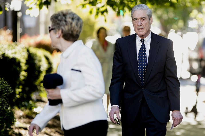 Special counsel Robert Mueller and his wife Ann Cabell Standish, left, arrive for Easter services April 21, 2019, at St. John's Episcopal Church in Washington. Rep. Jerrold Nadler, the chairman of the House Judiciary Committee, says sMueller won t appear before his panel next week, despite the committee's hope that Mueller would testify May 15. (Andrew Harnik/AP, File)