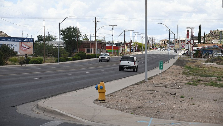 Andy Devine Avenue from Stockton Hill Road/Hualapai Mountain Road east to Michael Street will begin to be milled and repaved Monday, May 13. Lanes will be closed, so expect delays. (Photo by Vanessa Espinoza/Daily Miner)