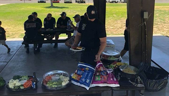 Kingman Fire Department is asking for information about stolen T-shirts from a firefighter, and for the public to be aware if anyone is presenting KFD as seeking donations going door-to-door. (KFD photo)