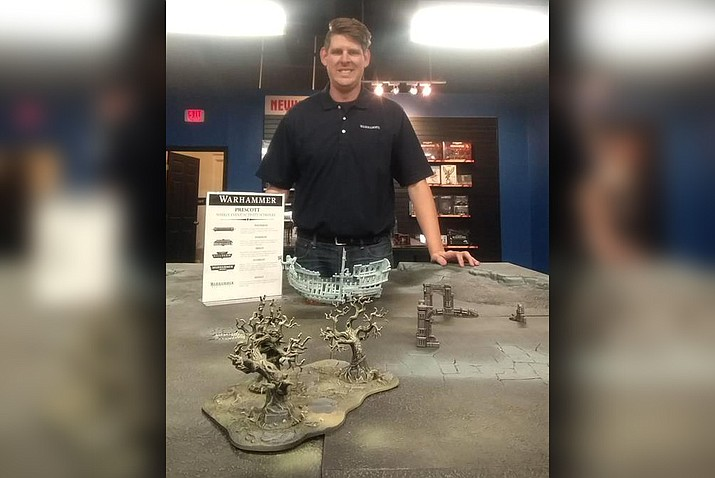 Matt Buchholtz manages the Warhammer store that opened in Prescott in late April 2019. (Warhammer/Courtesy)