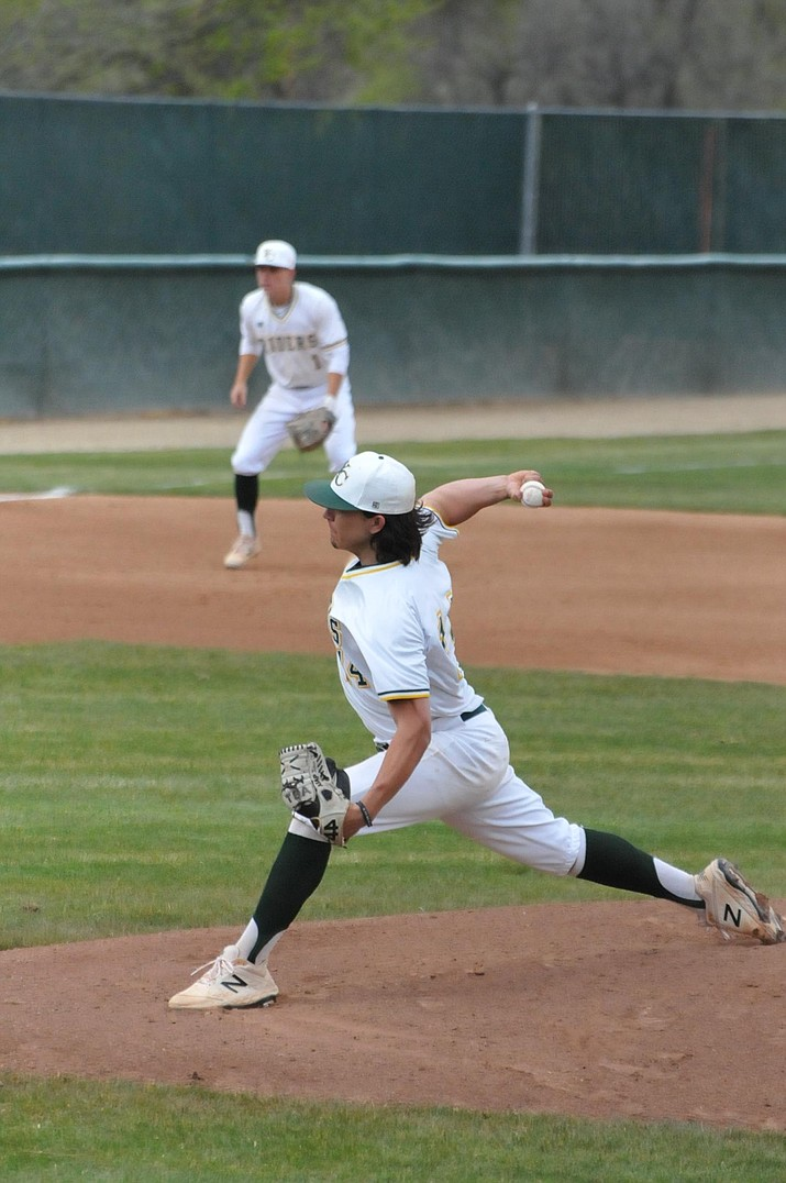 Starting pitcher Dom Hamel allowed four runs on four hits for Yavapai College on Friday against to Central Arizona in Phoenix. (Doug Cook/Courier file)