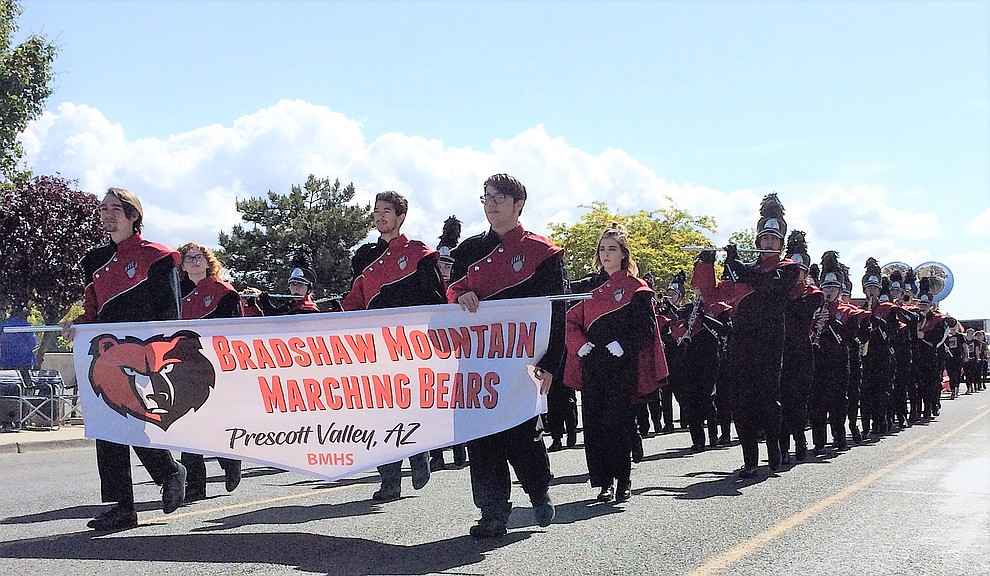 Bradhaw Mountain High's marching band took part in the Prescott Valley Days parade, which was Saturday, May 11, 2019, during the Prescott Valley Days celebration. (Sue Tone/Courier)