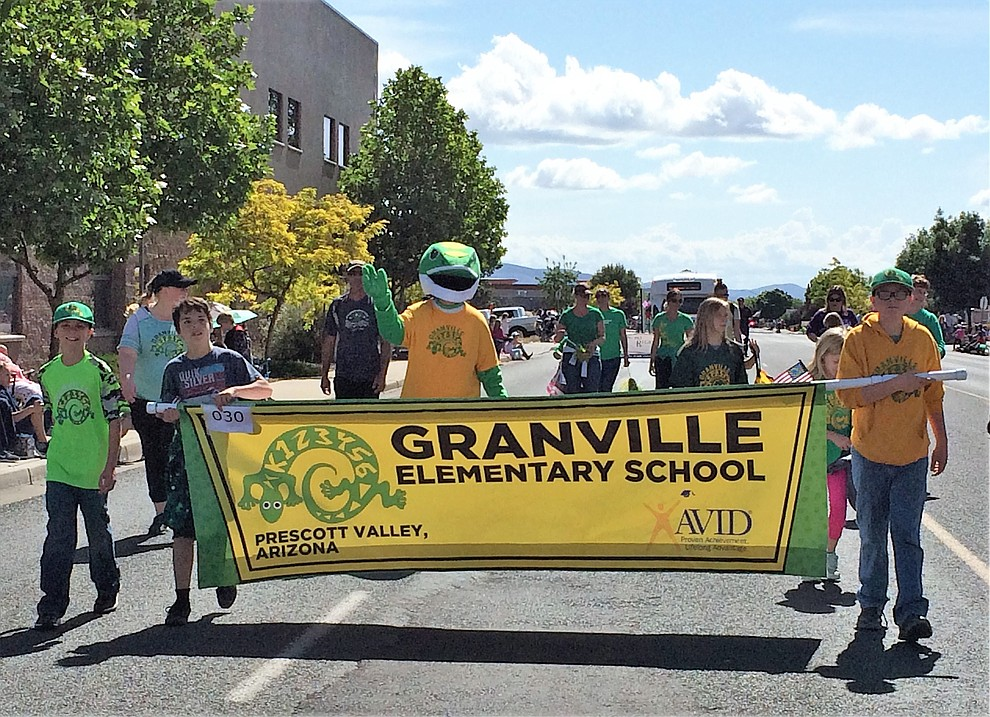 Granville Elementary had an entry in the Prescott Valley Days parade, which took place Saturday, May 11, 2019, during the Prescott Valley Days celebration. (Sue Tone/Courier)