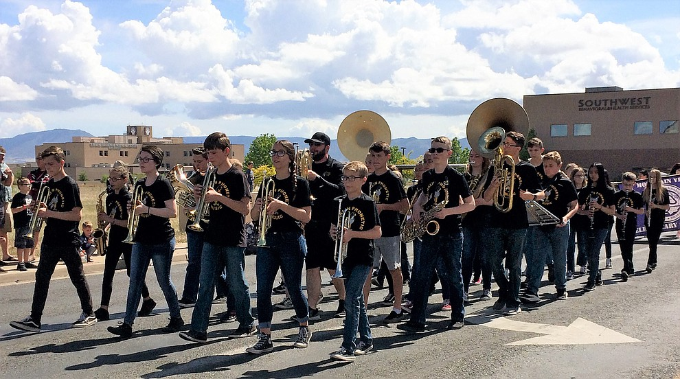 Franklin Phonetic's marching band took to the parade route Saturday, May 11, 2019. (Sue Tone/Courier)..