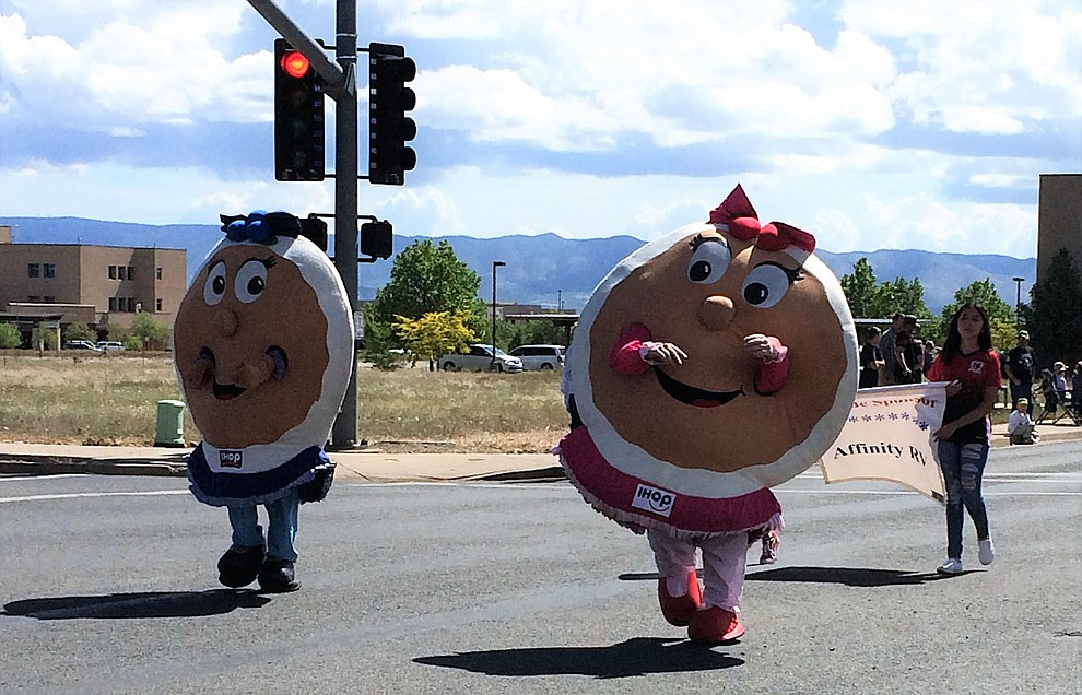 Parade entries took many forms, even pancakes from IHOP, on Saturday, May 11, 2019, during the Prescott Valley Days celebration. (Sue Tone/Courier)..