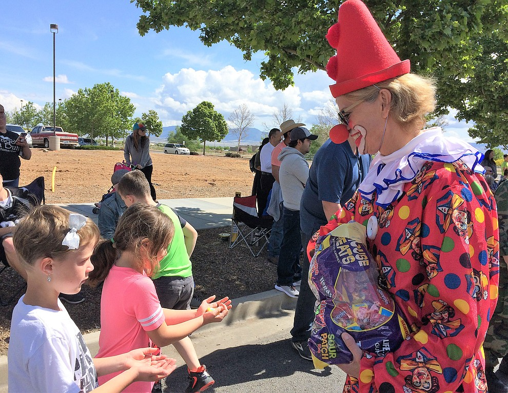 Janet Albert was a big hit with the kids along the parade route Saturday, May 11, 2019, during the Prescott Valley Days celebration. (Sue Tone/Courier)..