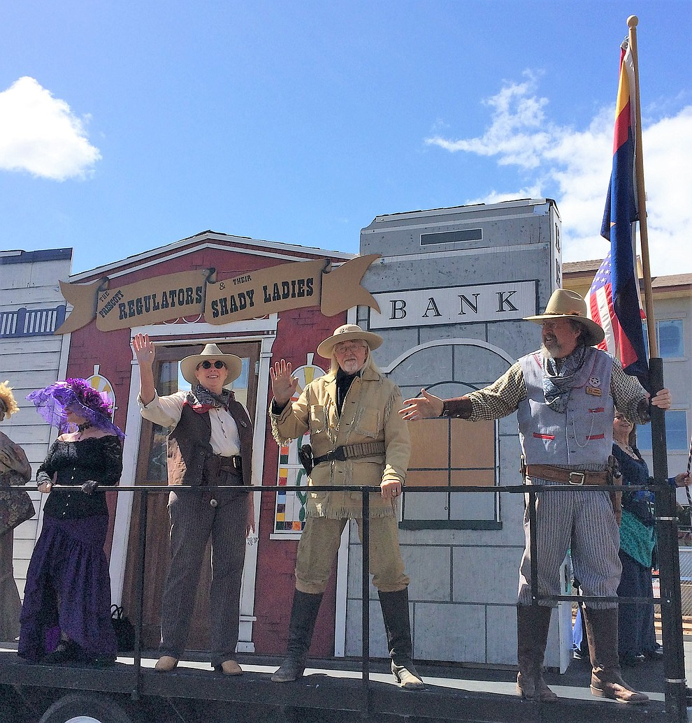 The Prescott Regulators and their Shady Ladies made an appearance in the parade Saturday, May 11, 2019. (Sue Tone/Courier)..