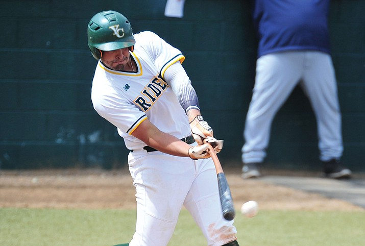 Yavapai's Christian Encarnacion-Strand was 2 for 4 with a home run and two RBIs in Saturday's loss to Central Arizona College in Phoenix.  (Les Stukenberg/Courier file)