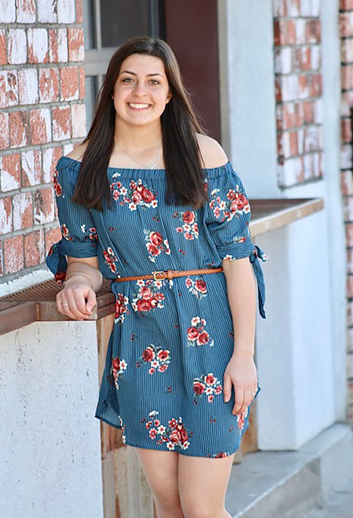 Ashley Sahawneh, a senior at Lee Williams High School, was recently selected as Student Rotarian of the Kingman Rotary Club. (Photo by Ashley Schmitz)