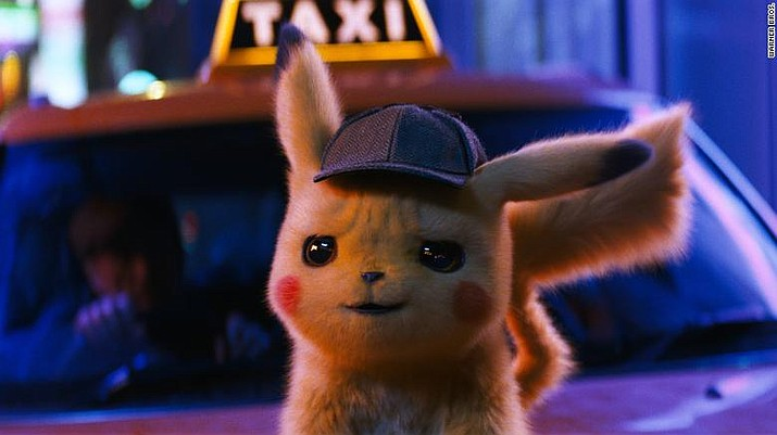 "Ryan Reynolds as the voice of Detective Pikachu in ""Pokemon Detective Pikachu."" (Warner Bros. Pictures)"