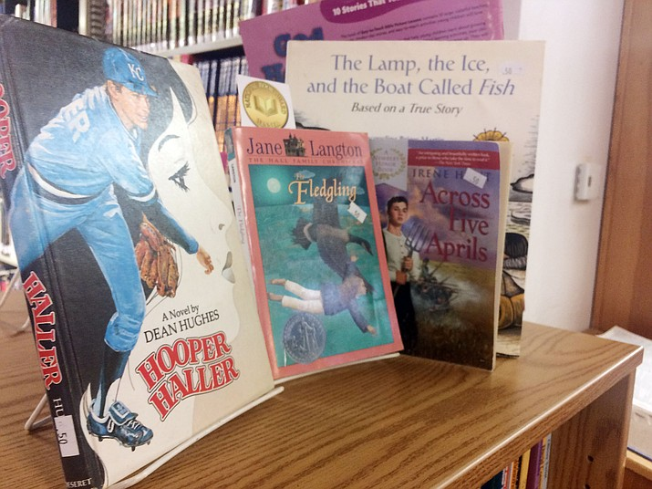 """The Friends of the Chino Valley Library May Bookstore Sale has children's and young adult books available, from """"Read to Me"""" to education — with prices starting at 25 cents each. All proceeds benefit the Chino Valley Public Library, located at 1020 Palomino Road. (Jason Wheeler/Review)"""