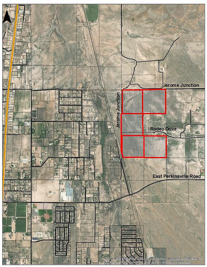 The location of Old Home Manor for which the Chino Valley Planning & Zoning Commission unanimously voted to recommend the Chino Valley Town Council approve it to be rezoned to the new Business Park zoning district. (Town of Chino Valley/Courtesy)