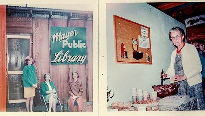 Archive photos of the Mayer Public Library. (Courtesy)