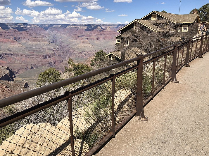 Barriers like this one on the South Rim of the Grand Canyon are meant to help keep visitors safe. (Carissa Wigginton/ Cronkite News, file)