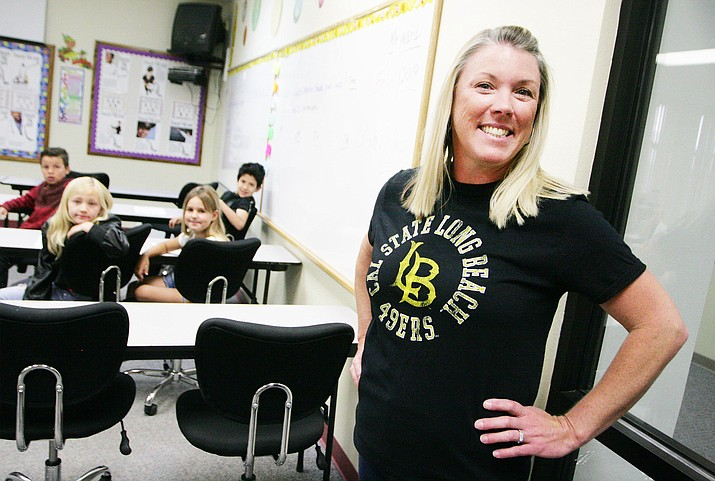 "Now in her 19th year as a teacher, the past three at Beaver Creek School, Wendy Quintana was ""around 8 or 9"" when she decided she wanted to become a teacher. VVN/Bill Helm"