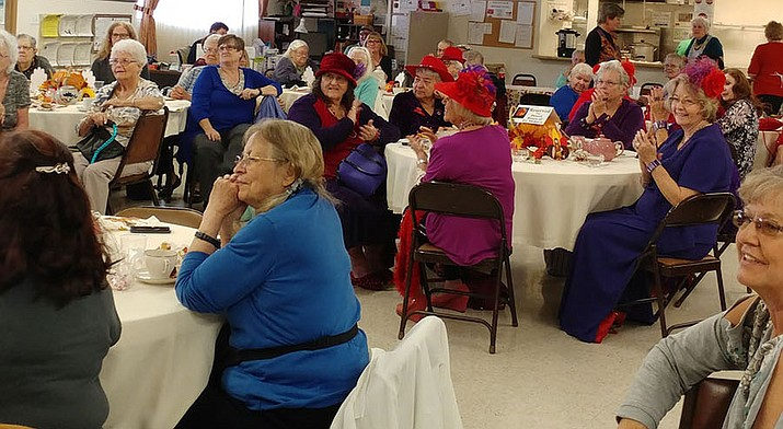 Ladies from the community got together during the 2018 fall tea at the Kathryn Heidenreich Adult Center to enjoy tea and sandwiches. The center is hosting another tea event to honor mothers on Friday, May 17. (Photo courtesy of Debera Daugherty)