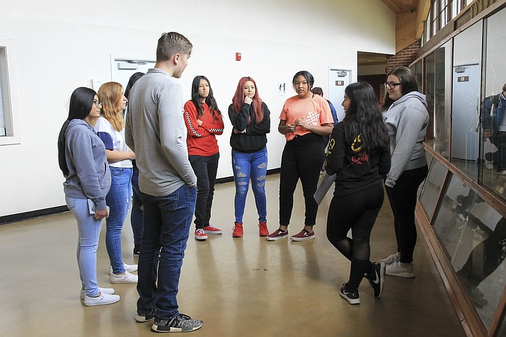 Eighth grade students from Williams Middle School and Maine Consolidated School visit Williams High School May 9. (Loretta Yerian/WGCN)